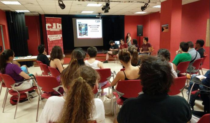 El Consell de la Joventut de Barcelona (CJB) a la trobada d'entitats al 2017 Font: CJB