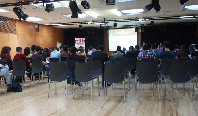 El Consell de la Joventut de Barcelona (CJB) a l'Assemblea General Ordinària al 2017 Font: CJB