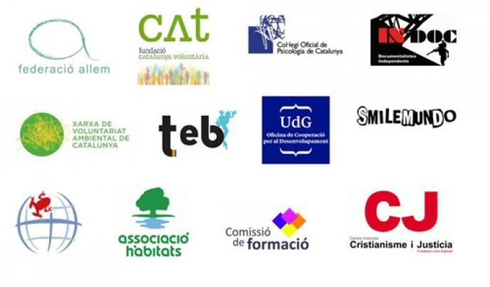 Logotips d'entitats col·laboradores de xarxanet.org Font: