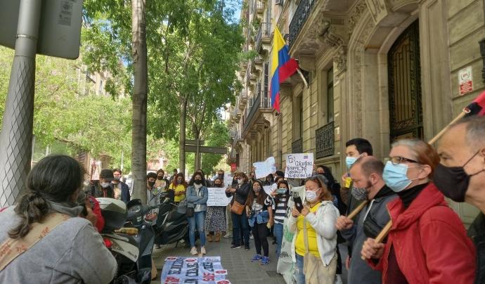 Ciutats com Barcelona també s'han vinculat al moviment amb protestes locals.  Font: Col·lectiu Maloka