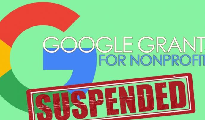 Si l'entitat no en fa un ús adequat Google pot suspendre el compte