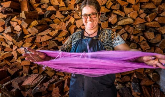La XX Campanya pel Dia Mundial del Comerç Just se celebrarà sota el lema 'Posa el filtre lila! Per la igualtat, tria Comerç Just! Font: Opmeer Reports / OikoCrèdit