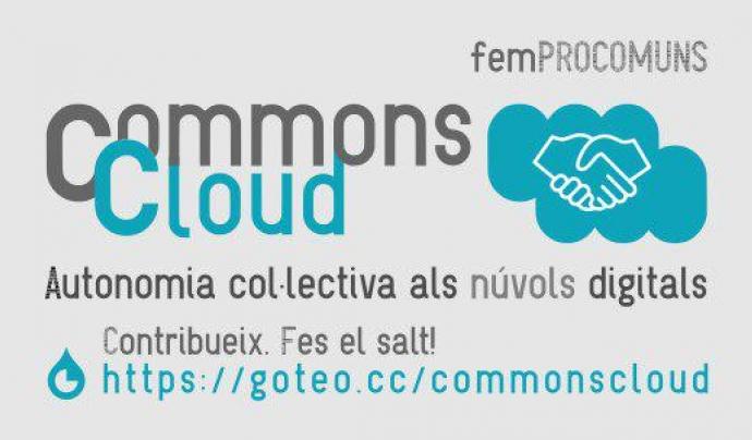 Cartell sobre la campanya de micromecenatge de CommonsCloud