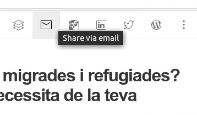 Compartir un article per correu electrònic és molt ràpid i senzill Font: Feedly
