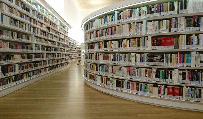 Imatge biblioteca plena de llibres