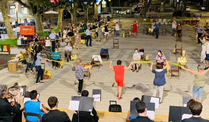 Imatge del concert de sardanes a Bellvís el cap de setmana passat. Font: Confederació Sardanista