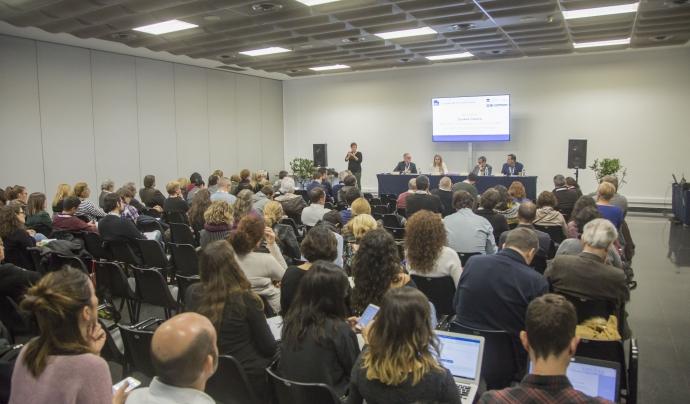El públic del debat sobre cooperació público-social, en el marc del VI Congrés del Tercer Sector.  Font: Taula del Tercer Sector