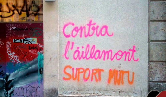 El veïnat del Raval, Barcelona, s'ha organitzat en una Xarxa de Suport Mutu per fer front a les conseqüències de la crisi de la Covid-19. Font: Xarxa de Suport Mutu