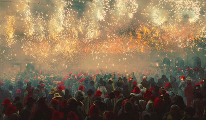 L'espectacular Correfoc de la Festa Major de Manresa. Font: Xàldiga Taller de Festes