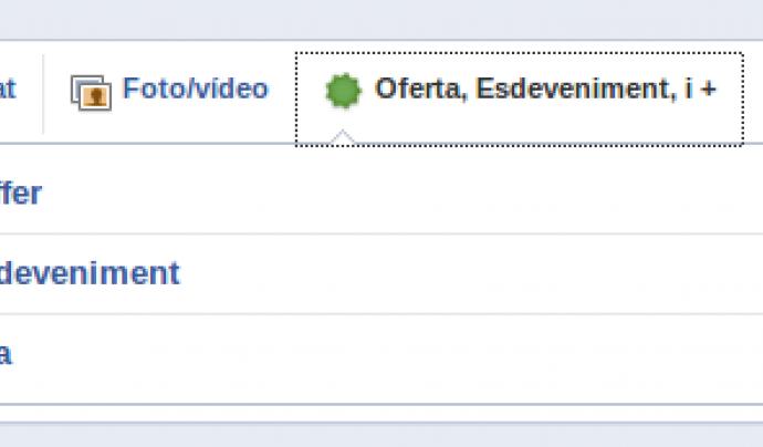 Amb Facebook també es poden crear esdeveniments.