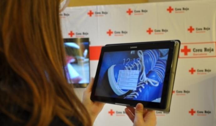 """L'app va rebre en el MWC els Premis a la innovació tecnològica de la Creu Roja en la categoria """"voluntariat"""".  Font: Creu Roja"""