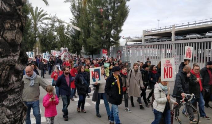 Moments de la mobilització contra la indústria dels creuers. Font: Fem Front al Turisme