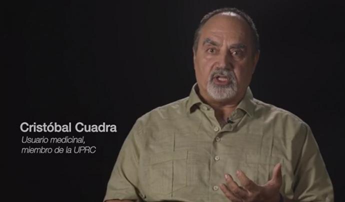 Cristóbal Cuadra UPRC Font: Campanya #CannabisResponsable