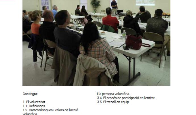 Curs d'iniciació al Voluntariat a Lleida Font: voluntariat.org