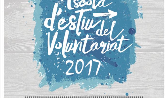 Cartell dels cursos d'iniciació al voluntariat de l'Escola d'Estiu del Voluntariat 2017 Font: voluntariat.org