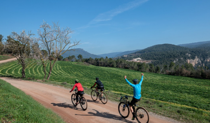 La bicicleta representa només un 3% de la mobilitat total.  Font: CycloCat