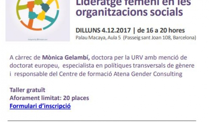 Lideratge femení en les organitzacions socials'