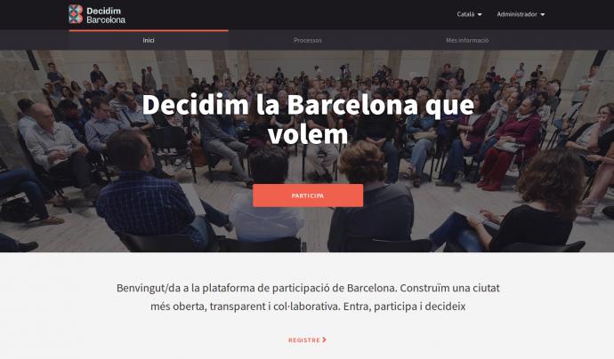 'Decidim Barcelona' és una eina de participació ciutadana i d'apoderament veïnal. Font: Decidim Barcelona