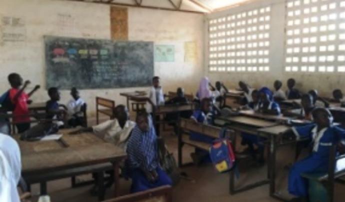 Un dels projectes més consolidats de Banyoles Solidària és la construcció d'escoles.  Font: Banyoles Solidària