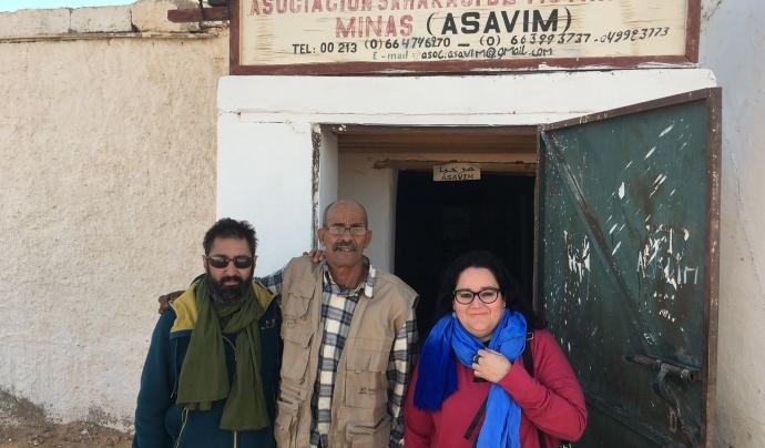 Marcos Costa i Esther Mora amb el president d'ASAVIM. Font: Marcos Costa