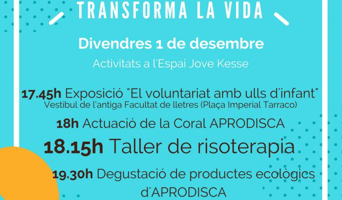 Cartell del Dia Internacional del Voluntariat a Tarragona