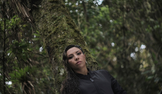Diana Avella, artista colombiana de hip-hop pels drets humans.  Font: Don Maleza Asociados, Twitter