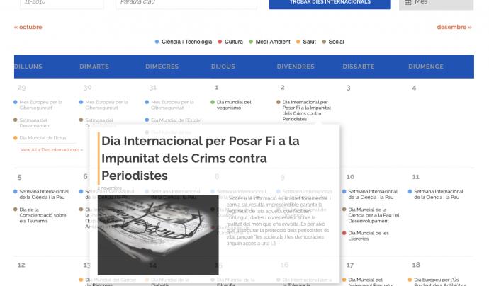 DiesInternacionals.cat ofereix informació de qualitat i contrastada sobre centenars de commemoracions Font: Fundació ideograma