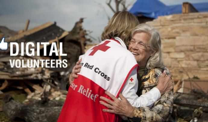 Voluntariat digital a la Creu Roja Americana. Font: See The Good