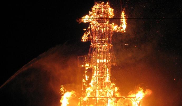 Així cremava el Dimoni l'any 2006 Font: Viquipèdia