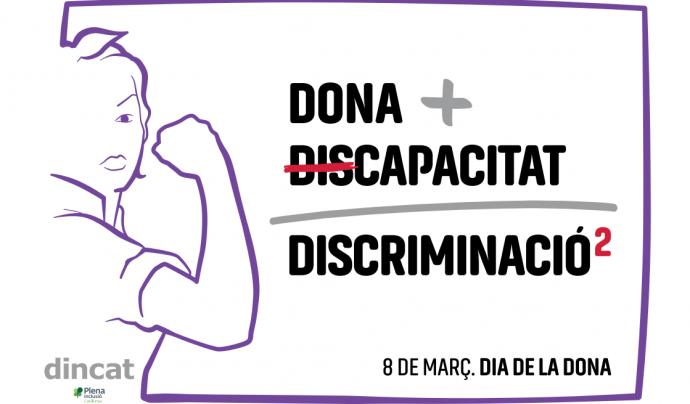 Cartell de DINCAT per al Dia de les Dones Font: DINCAT