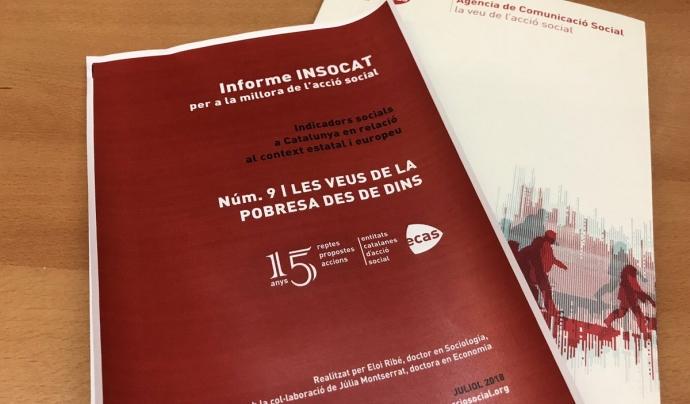 El novè informe INSOCAT es titula 'Les veus de la pobresa des de dins'. Font: Twitter
