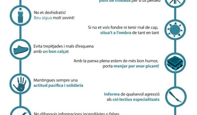 Esquema amb consells per a les persones que es manifestin pel referèndum Font: Som Defensores