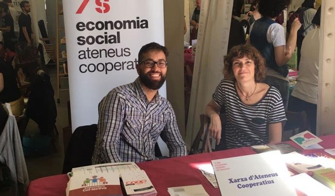Imatge d'un dels expositors de la sisena edició de la Fira d'Economia Solidària de Catalunya Font: XES