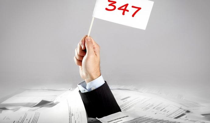 El model 347 d'aquest any encara es pot presentar al febrer Font: DMConsultants
