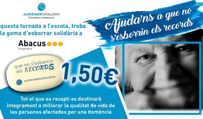 Crida d'Abacus i Alzheimer Catalunya per donar a conèixer les gomes solidàries.