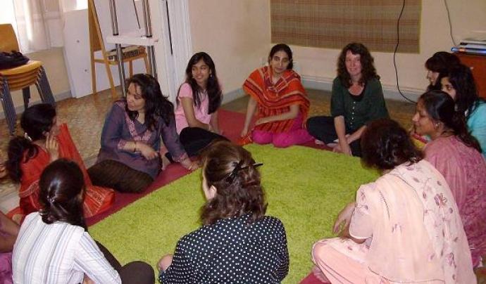 Dones participants del taller d'autoterapia