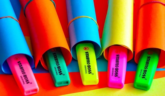 Subratlladors fluorescents de colors
