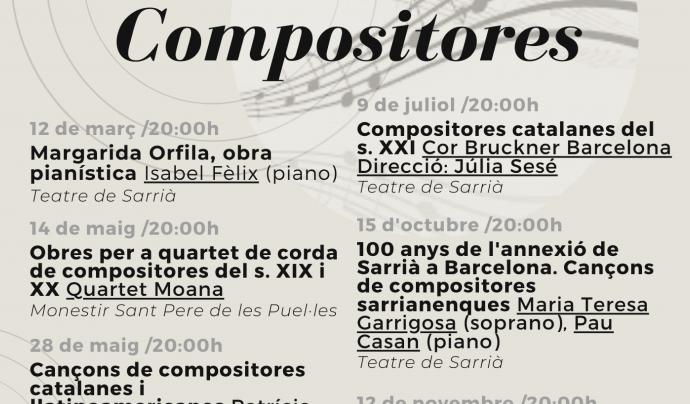 Programa complet cicle dones i compositores  Font: Teatre de Sarrià