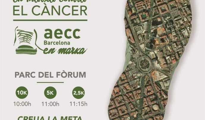"""""""En Marxa Contra el Càncer Barcelona"""" Font: AECC"""