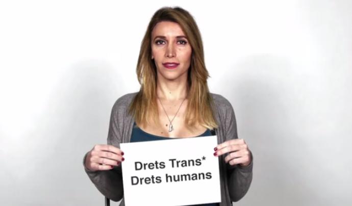 Fotograma del vídeo 'DretsTrans, Drets Humans' de l'associació Generem Font: Generem