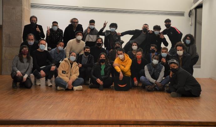 Fotografia de grups de les persones que han participat en el projecte 'Viatge a Mart'. Font: Punt de Referència