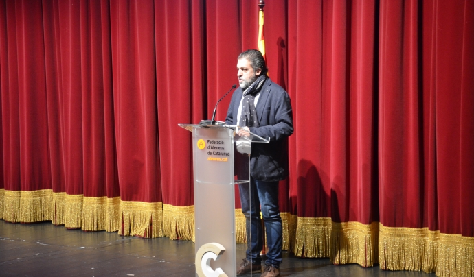 El president de la FAC, Pep Morella, durant el seu discurs Font: Xavier Playà