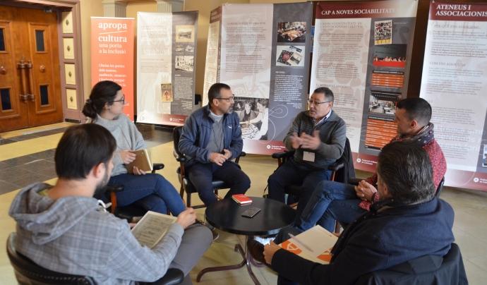 Taula de debat entre els delegats territorials per a la Revista Ateneus Font: Xavier Playà