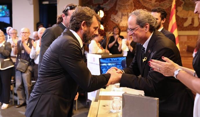 Entrega de la Creu de Sant Jordi a Proactiva Open Arms Font: Generalitat de Catalunya