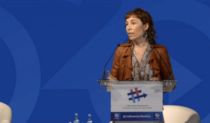 La secretària general de Departament d'Educació de la Generalitat de Catalunya, Núria Cuenca. Font: Associació Espanyola d'E2O