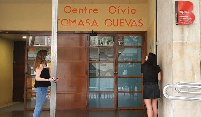 El 80% dels centres cívics de Barcelona han obert les seves portes. Font: Centre Cívic Tomasa Cuevas.
