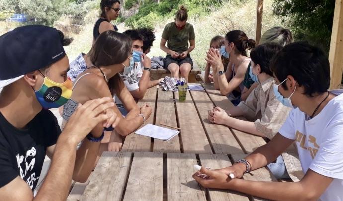 Un grup de participants en l'última edició de les colònies d'Oasis. Font: Cooperativa Candela