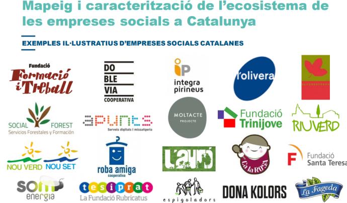 Segons l'estudi, a Catalunya hi ha 293 empreses socials. Font: ACCIÓ Font: ACCIÓ