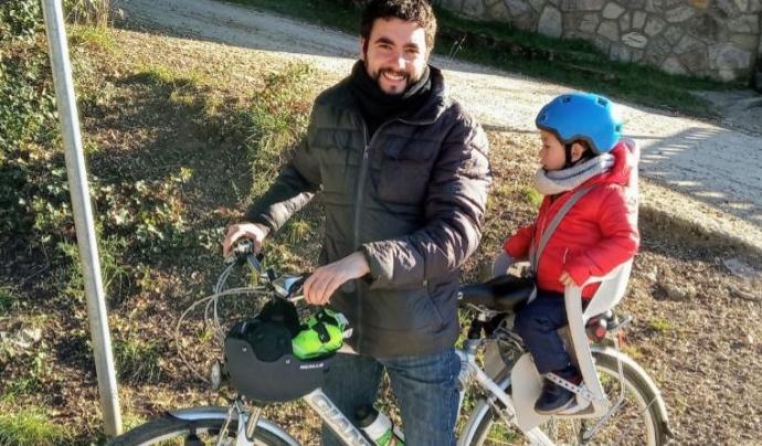 L'Eduard Folch va iniciar l'iniciativa d'Osona amb Bici. Font: Osona amb Bici