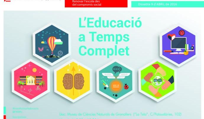 L'educació a temps complet integra temps escolar i fora de l'escola fent que la comunitat s'involucri en l'aprenentatge dels infants i joves.